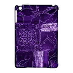 Pretty Purple Patchwork Apple iPad Mini Hardshell Case (Compatible with Smart Cover) by FunWithFibro