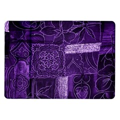 Pretty Purple Patchwork Samsung Galaxy Tab 10 1  P7500 Flip Case by FunWithFibro