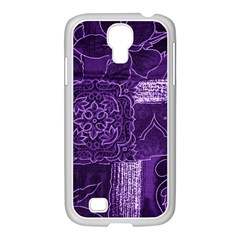 Pretty Purple Patchwork Samsung Galaxy S4 I9500/ I9505 Case (white) by FunWithFibro