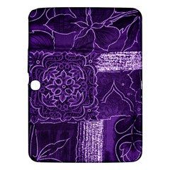 Pretty Purple Patchwork Samsung Galaxy Tab 3 (10 1 ) P5200 Hardshell Case  by FunWithFibro