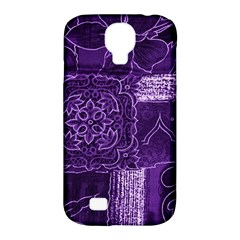 Pretty Purple Patchwork Samsung Galaxy S4 Classic Hardshell Case (pc+silicone) by FunWithFibro
