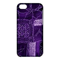 Pretty Purple Patchwork Apple Iphone 5c Hardshell Case by FunWithFibro