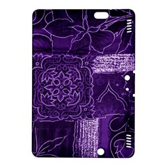 Pretty Purple Patchwork Kindle Fire Hdx 8 9  Hardshell Case by FunWithFibro