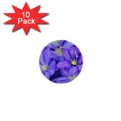 Purple Wildflowers For Fms 1  Mini Button (10 Pack) by FunWithFibro