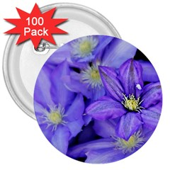 Purple Wildflowers For Fms 3  Button (100 Pack) by FunWithFibro