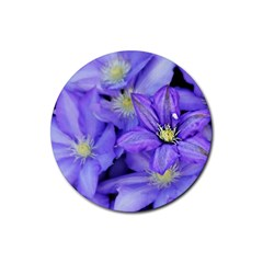 Purple Wildflowers For Fms Drink Coaster (round) by FunWithFibro
