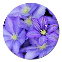 Purple Wildflowers For Fms Magnet 5  (round) by FunWithFibro