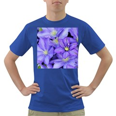 Purple Wildflowers For Fms Men s T-shirt (Colored) by FunWithFibro
