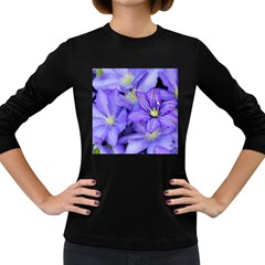 Purple Wildflowers For Fms Women s Long Sleeve T-shirt (Dark Colored)