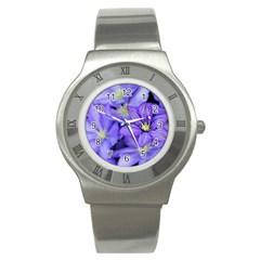Purple Wildflowers For Fms Stainless Steel Watch (slim)