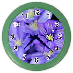 Purple Wildflowers For Fms Wall Clock (color) by FunWithFibro