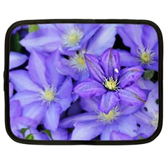 Purple Wildflowers For Fms Netbook Sleeve (large) by FunWithFibro