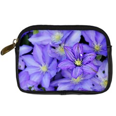 Purple Wildflowers For Fms Digital Camera Leather Case by FunWithFibro
