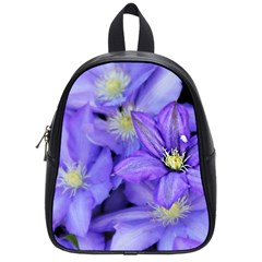 Purple Wildflowers For Fms School Bag (small) by FunWithFibro