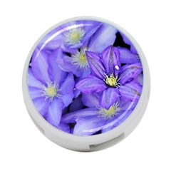Purple Wildflowers For Fms 4 Port Usb Hub (two Sides) by FunWithFibro