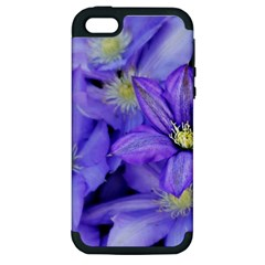 Purple Wildflowers For Fms Apple Iphone 5 Hardshell Case (pc+silicone) by FunWithFibro