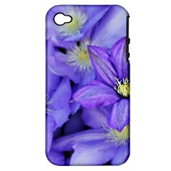 Purple Wildflowers For Fms Apple Iphone 4/4s Hardshell Case (pc+silicone) by FunWithFibro