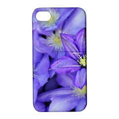 Purple Wildflowers For Fms Apple Iphone 4/4s Hardshell Case With Stand by FunWithFibro