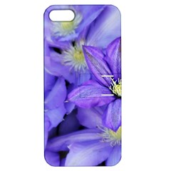 Purple Wildflowers For Fms Apple Iphone 5 Hardshell Case With Stand by FunWithFibro