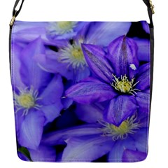 Purple Wildflowers For Fms Flap Closure Messenger Bag (small) by FunWithFibro