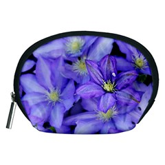 Purple Wildflowers For Fms Accessory Pouch (medium) by FunWithFibro