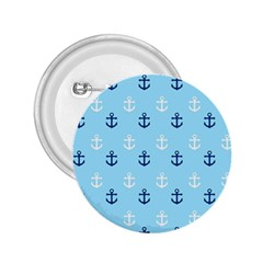 Anchors In Blue And White 2 25  Button by StuffOrSomething