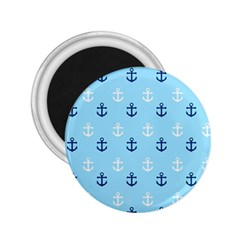 Anchors In Blue And White 2 25  Button Magnet by StuffOrSomething