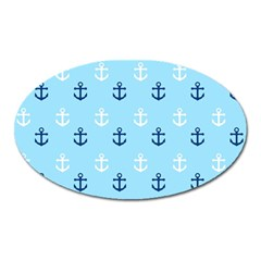 Anchors In Blue And White Magnet (oval) by StuffOrSomething