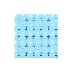 Anchors In Blue And White Magnet (square)