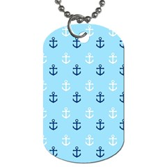 Anchors In Blue And White Dog Tag (two Sided)  by StuffOrSomething