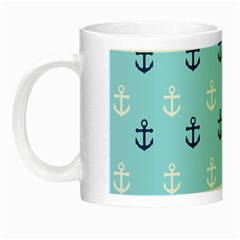 Anchors In Blue And White Glow In The Dark Mug by StuffOrSomething