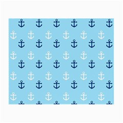 Anchors In Blue And White Glasses Cloth (small) by StuffOrSomething
