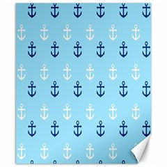 Anchors In Blue And White Canvas 8  X 10  (unframed) by StuffOrSomething
