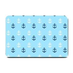 Anchors In Blue And White Small Door Mat by StuffOrSomething