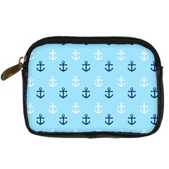 Anchors In Blue And White Digital Camera Leather Case by StuffOrSomething