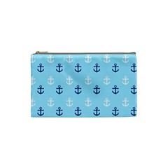 Anchors In Blue And White Cosmetic Bag (small) by StuffOrSomething