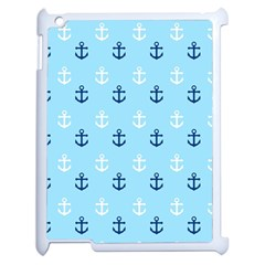 Anchors In Blue And White Apple Ipad 2 Case (white) by StuffOrSomething