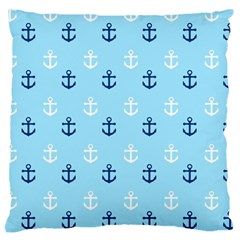 Anchors In Blue And White Large Cushion Case (two Sided)  by StuffOrSomething