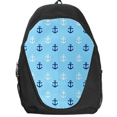 Anchors In Blue And White Backpack Bag by StuffOrSomething