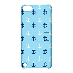 Anchors In Blue And White Apple iPod Touch 5 Hardshell Case with Stand by StuffOrSomething