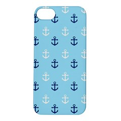 Anchors In Blue And White Apple Iphone 5s Hardshell Case by StuffOrSomething
