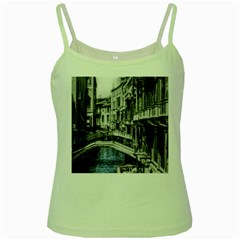 Vintage Venice Canal Green Spaghetti Tank by bloomingvinedesign