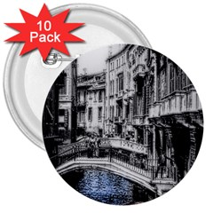Vintage Venice Canal 3  Button (10 Pack) by bloomingvinedesign