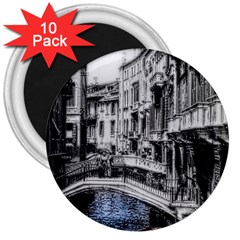 Vintage Venice Canal 3  Button Magnet (10 Pack) by bloomingvinedesign