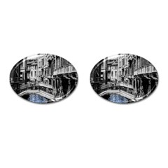 Vintage Venice Canal Cufflinks (oval) by bloomingvinedesign