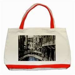 Vintage Venice Canal Classic Tote Bag (red) by bloomingvinedesign