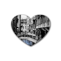 Vintage Venice Canal Drink Coasters (heart) by bloomingvinedesign