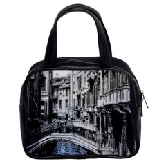 Vintage Venice Canal Classic Handbag (two Sides) by bloomingvinedesign