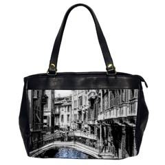 Vintage Venice Canal Oversize Office Handbag (two Sides) by bloomingvinedesign