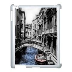 Vintage Venice Canal Apple Ipad 3/4 Case (white) by bloomingvinedesign